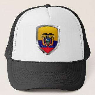 Ecuador Mettalic Emblem Trucker Hat