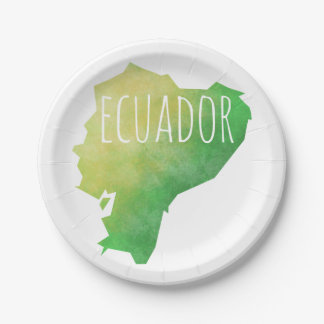 Ecuador Paper Plate