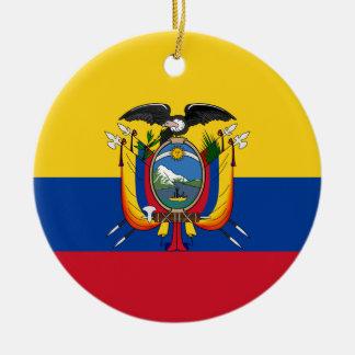 Ecuador Round Ceramic Ornament