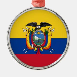 Ecuador Silver-Colored Round Ornament