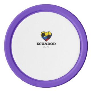 Ecuador Soccer Shirt 2016 Poker Chip Set
