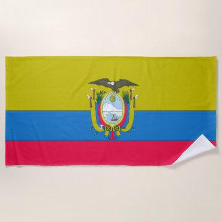 Ecuadorian flag beach towel