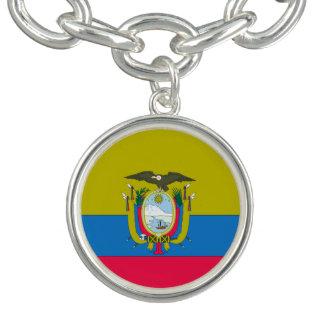Ecuadorian flag charm bracelet