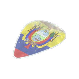 Ecuadorian flag pearl celluloid guitar pick