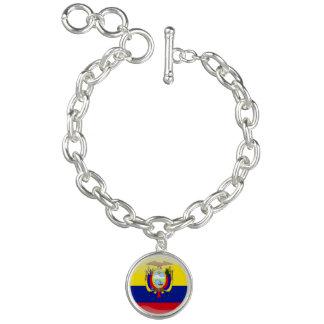 Ecuadorian glossy flag charm bracelet