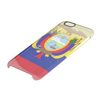 Ecuadorian glossy flag clear iPhone 6/6S case