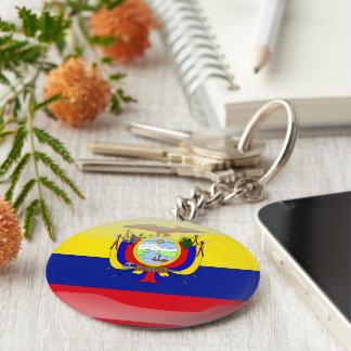Ecuadorian glossy flag keychain