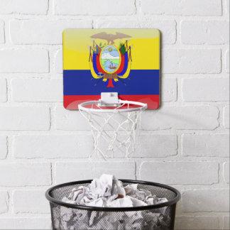 Ecuadorian glossy flag mini basketball hoop