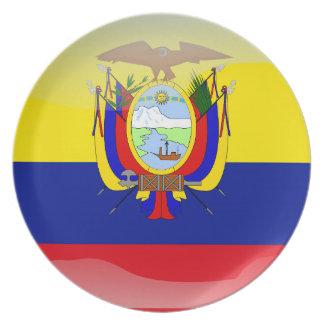 Ecuadorian glossy flag plate