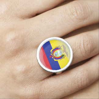 Ecuadorian glossy flag ring