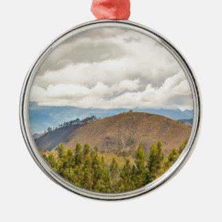 Ecuadorian Landscape at Chimborazo Province Silver-Colored Round Ornament