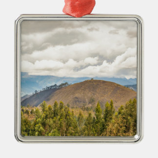Ecuadorian Landscape at Chimborazo Province Silver-Colored Square Ornament