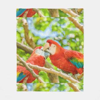 Ecuadorian Parrots at Zoo, Guayaquil, Ecuador Fleece Blanket