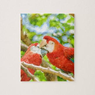 Ecuadorian Parrots at Zoo, Guayaquil, Ecuador Jigsaw Puzzle