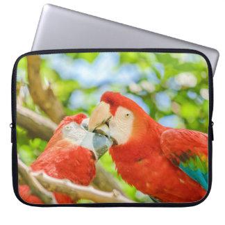 Ecuadorian Parrots at Zoo, Guayaquil, Ecuador Laptop Sleeve