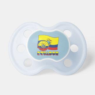 Ecuadorian Soccer Ball and Flag Pacifiers