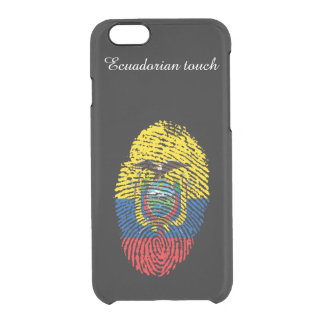 Ecuadorian touch fingerprint flag clear iPhone 6/6S case
