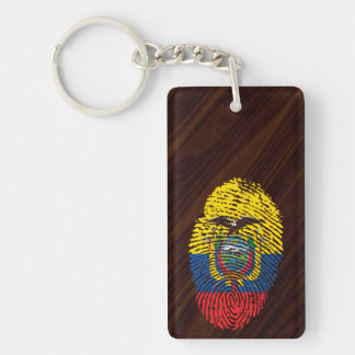 Ecuadorian touch fingerprint flag Double-Sided rectangular acrylic keychain