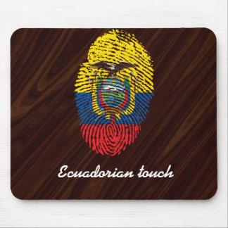 Ecuadorian touch fingerprint flag mouse pad