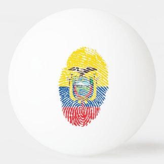Ecuadorian touch fingerprint flag ping pong ball