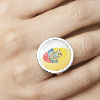 Ecuadorian touch fingerprint flag ring