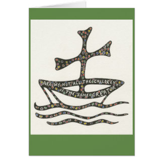 Ecumenical symbol notecard