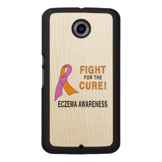 Eczema Awareness: Fight for the Cure! Wood Phone Case