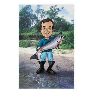 Ed and the Salmon Poster