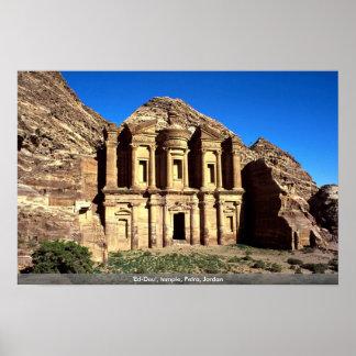 'Ed-Deu', temple, Petra, Jordan Poster