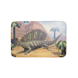 Edaphosaurus dinosaur - 3D render Bath Mat