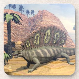 Edaphosaurus dinosaur - 3D render Coaster