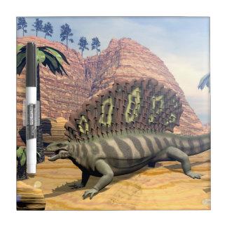 Edaphosaurus dinosaur - 3D render Dry Erase Board