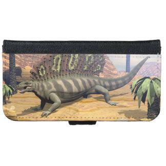 Edaphosaurus dinosaur - 3D render iPhone 6 Wallet Case