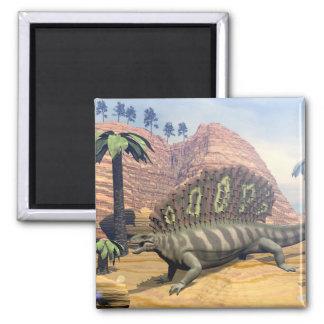 Edaphosaurus dinosaur - 3D render Magnet