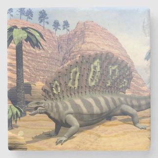 Edaphosaurus dinosaur - 3D render Stone Coaster