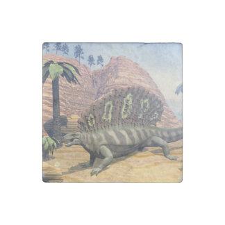 Edaphosaurus dinosaur - 3D render Stone Magnets