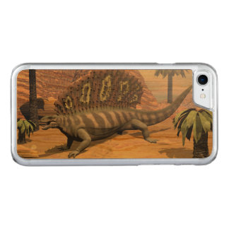 Edaphosaurus dinosaur walking in the desert carved iPhone 8/7 case