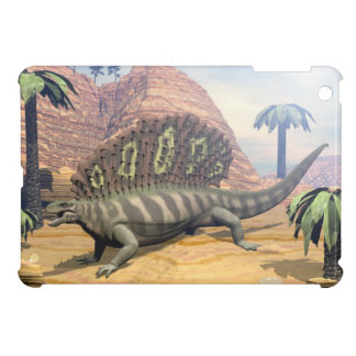 Edaphosaurus dinosaur walking in the desert cover for the iPad mini