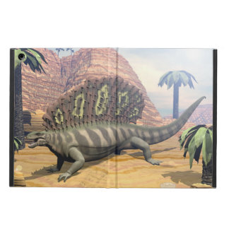 Edaphosaurus dinosaur walking in the desert iPad air case