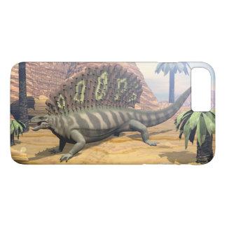 Edaphosaurus dinosaur walking in the desert iPhone 8 plus/7 plus case