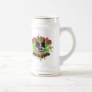 Edawg Designs Beer Stein - White/Gold Beer Steins