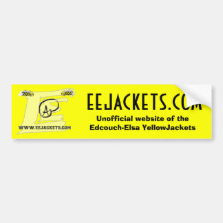 Edcouch-Elsa Unofficial website logo Bumper Sticker
