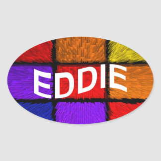 EDDIE OVAL STICKER