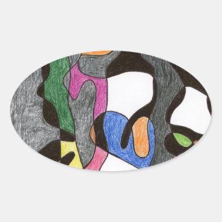 Eddie Price Anthropomorphic Oval Sticker