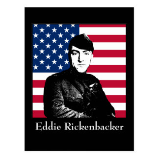 Eddie Rickenbacker and the American Flag Postcards