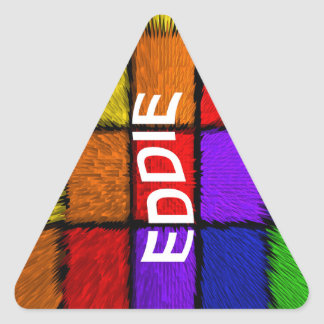 EDDIE TRIANGLE STICKER