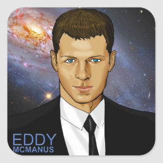 Eddy McManus - Star Person Square Sticker