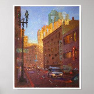 Eddy St. Sunset Poster