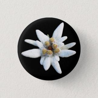 Edelweiss Alpine Flower 1 Inch Round Button