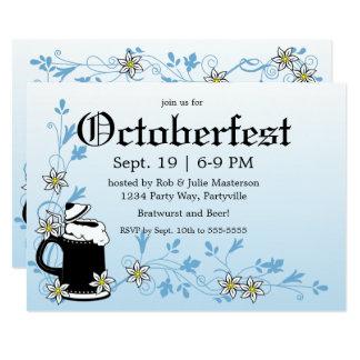 Edelweiss and Stein Elegant Oktoberfest Card